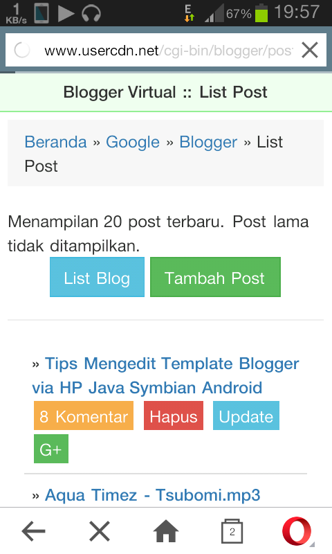 Tips Membuat Postingan di Blogger via HP